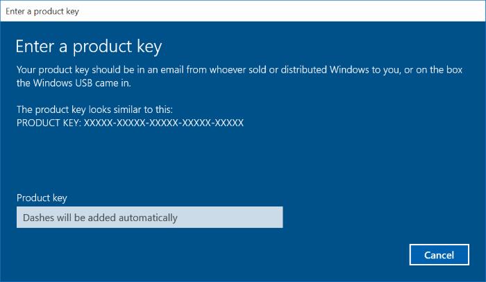 windows 8 1 change product key