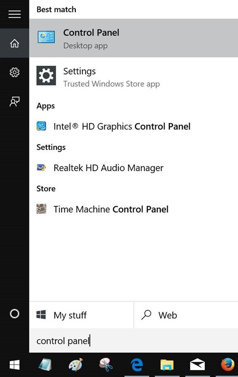 Membuka Control Panel Windows 10