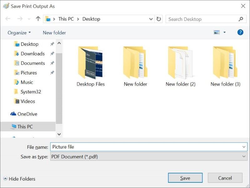 Simpan Hasil Konversi PDF