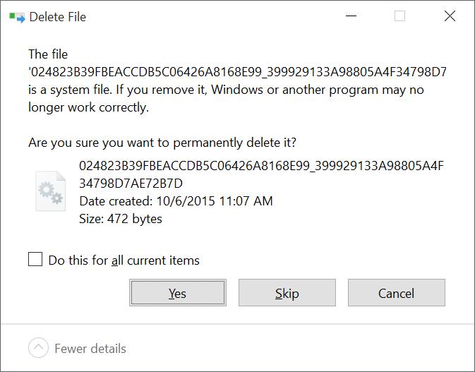 Skip File Digunakan