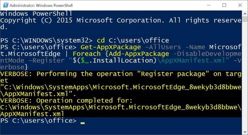 Sukses Install Microsoft Edge