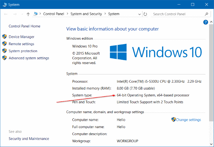 Cek Arsitektur Sistem Operasi Windows 10