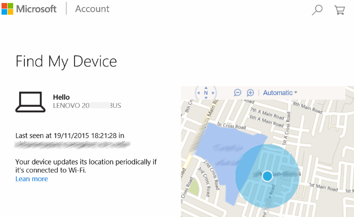 Find My Device Web Microsoft