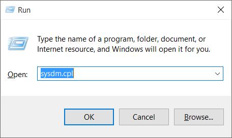 Membuka System Properties Windows 10 Melalui Run