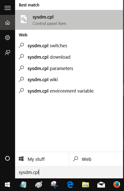 Membuka System Properties Windows 10 Melalui Start Menu