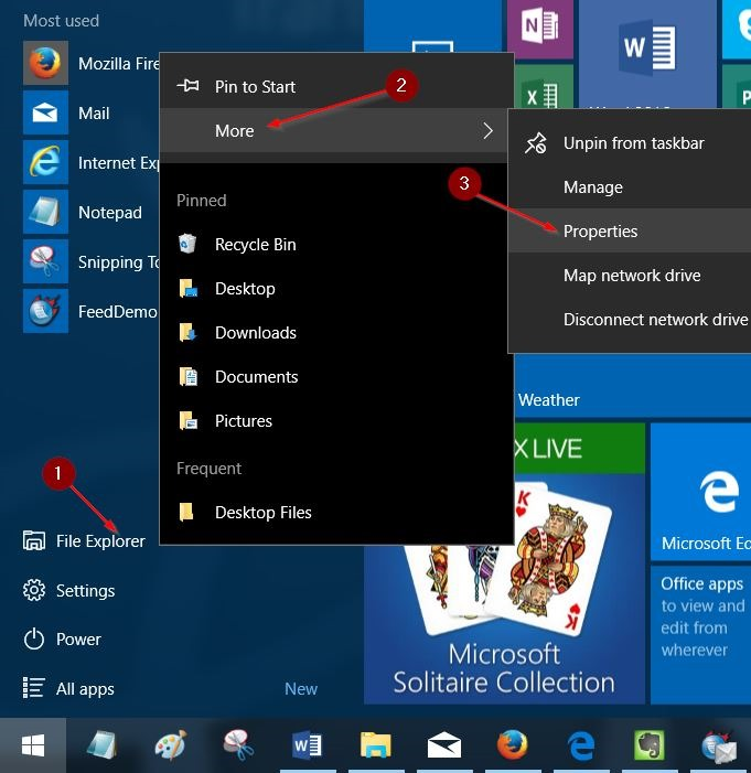 More File Explorer Start Menu