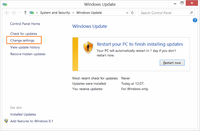 Pengaturan Windows Update Windows 7 & 8.1