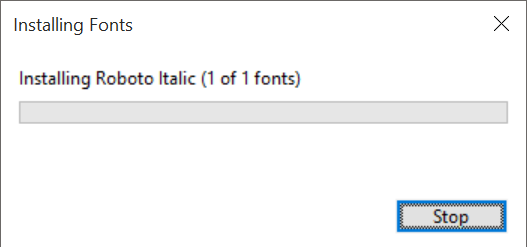 Proses Install Font Windows