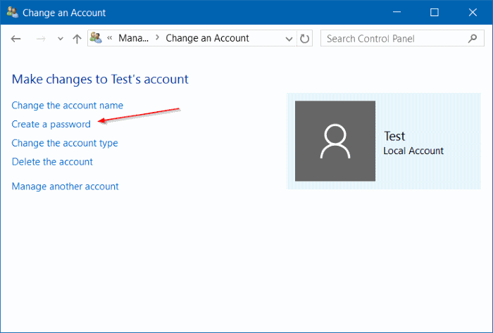 how to create windows 10 account