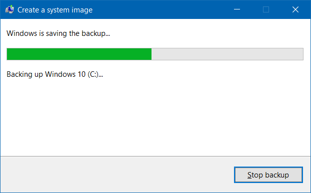 Membuat Backup Windows 10