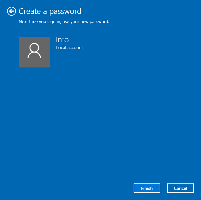 Sukses Membuat Password Windows 10