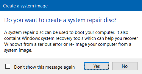 System Repair Disc Windows 10