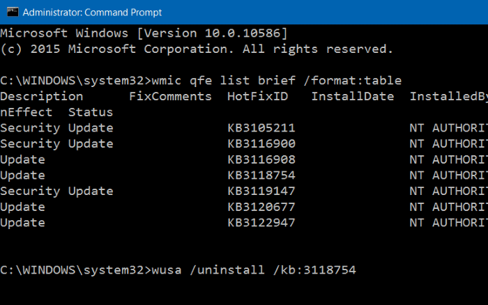 Uninstall Update Windows 10 Melalui Command Prompt