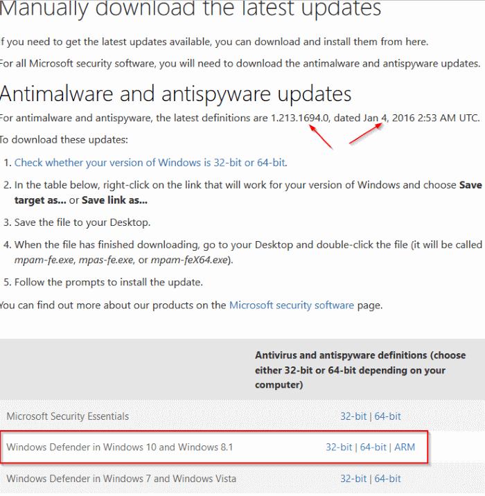 Windows Defender merupakan antivirus default bawaan sistem operasi Windows  Download dan Install Update Offline Windows Defender Untuk Windows 10