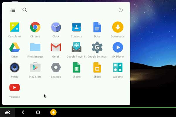 Start Menu Remix OS