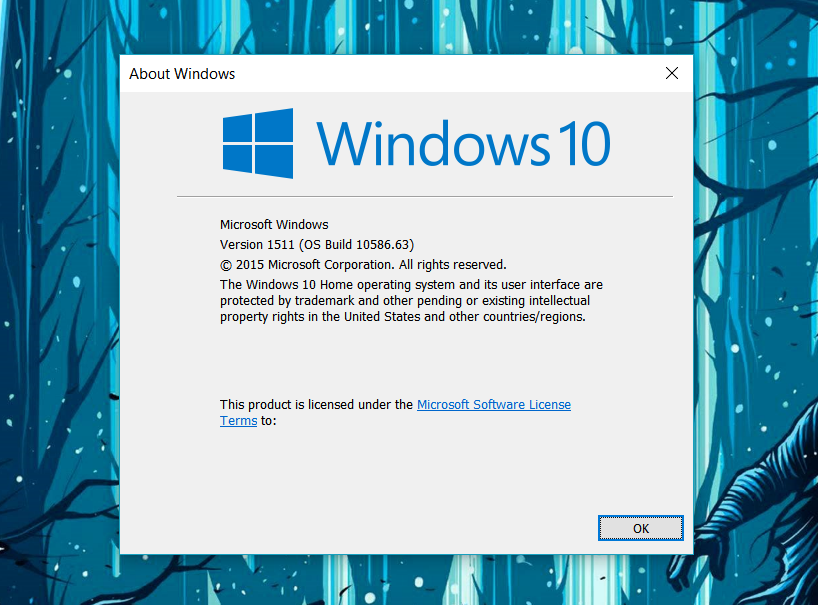 Versi terbaru Windows 10