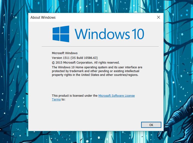 Kenaikan versi ini diperoleh dari pembaruan KB Inilah Hal Baru Dari Windows 10 Build 10586.63 | KB3124263
