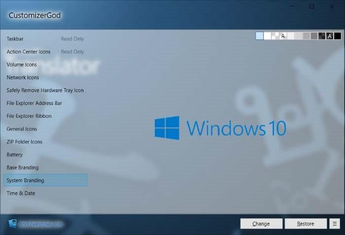 diadopsi dari sistem operasi Windows Vista Mengubah Icon di Windows 10 Dengan CustomizerGod