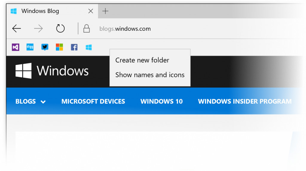Favorite Bar Microsoft Edge