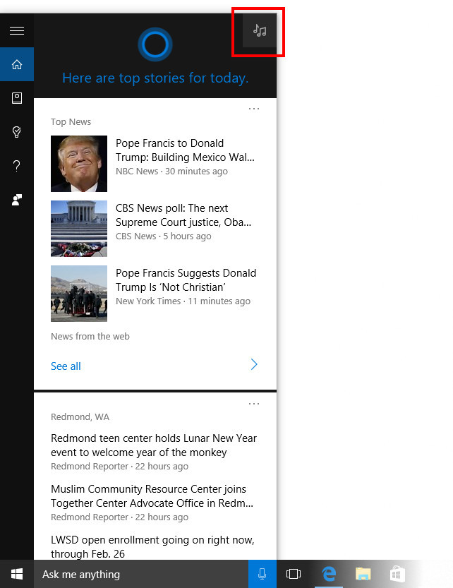 Icon Pencarian Cortana