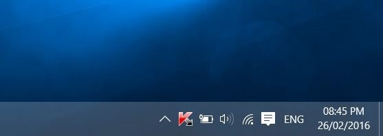 Jam di taskbar Windows 10