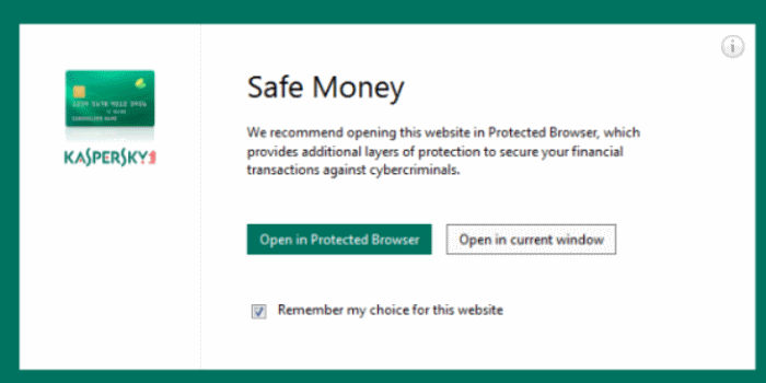 Kaspersky Safe Money