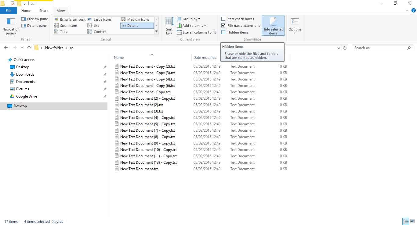 Menampilkan File Tersembunyi di Windows 10