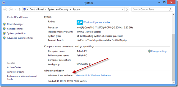 System Properties Windows 10 Aktivasi