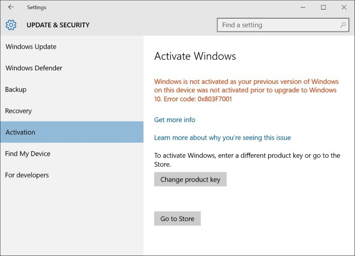 Activation Windows 10 (belum diaktifkan)