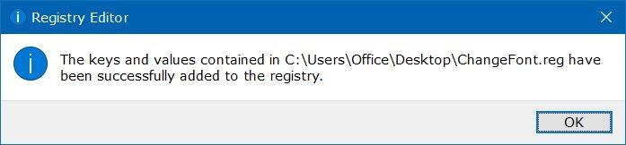 Konfirmasi mengubah registry