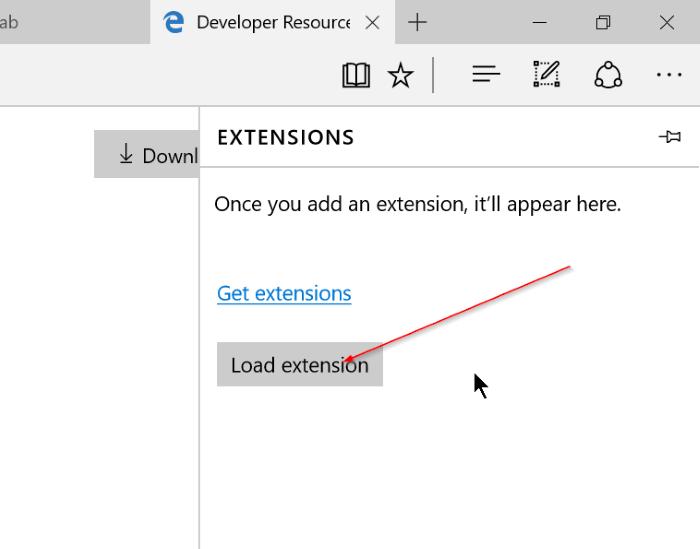 Microsoft Edge - Load Extension