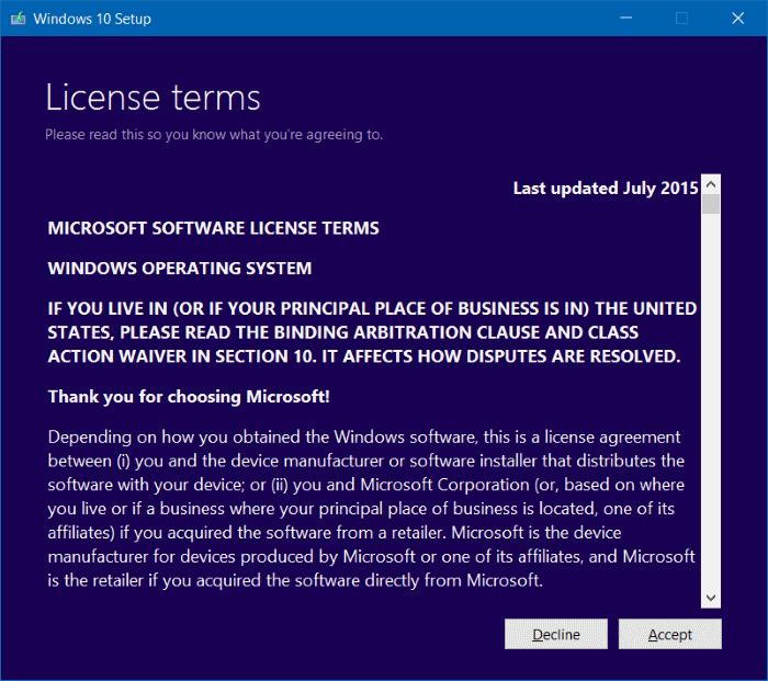 Syarat ketentuan install Windows 10