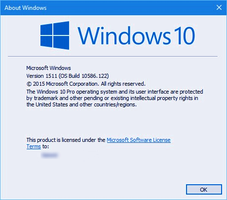 Windows 10 1511 build 10586.122