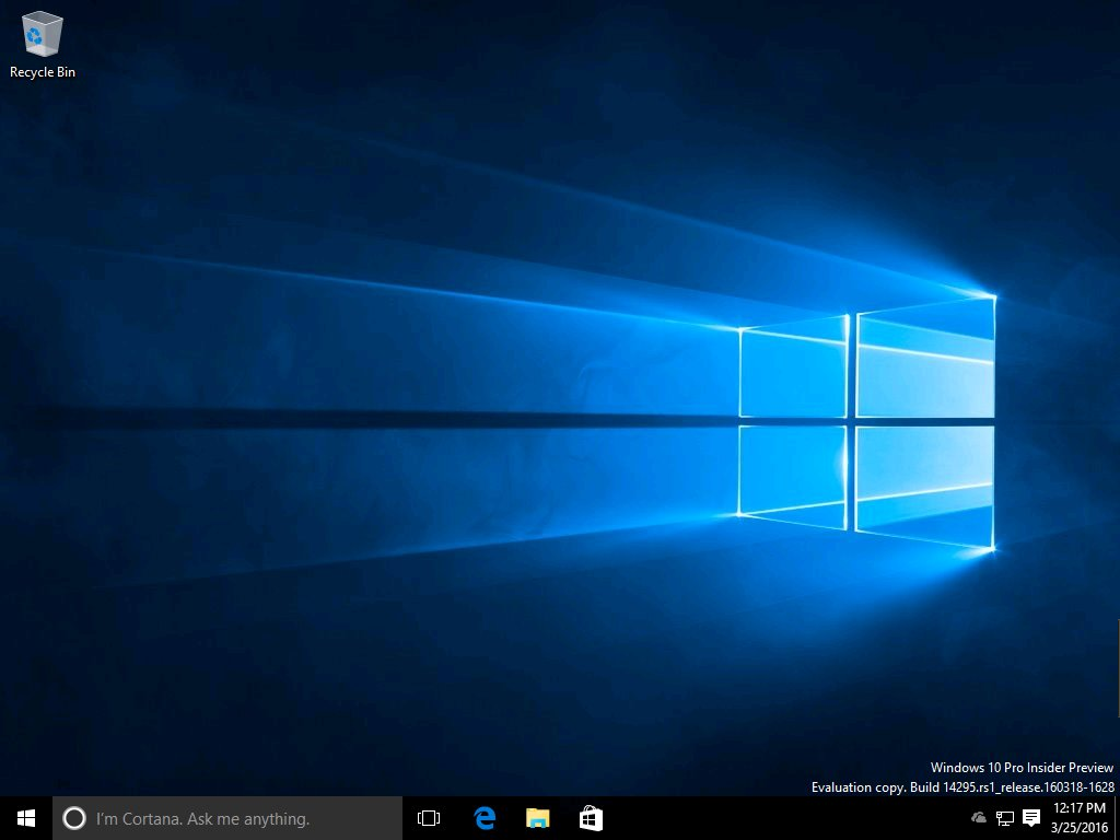 Windows 10 build 14295