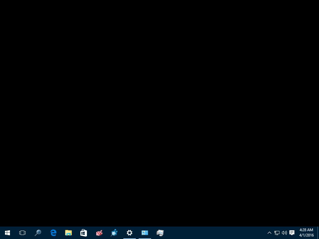 Layar deksop Windows 10 menjadi hitam