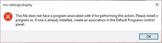 Personalization error