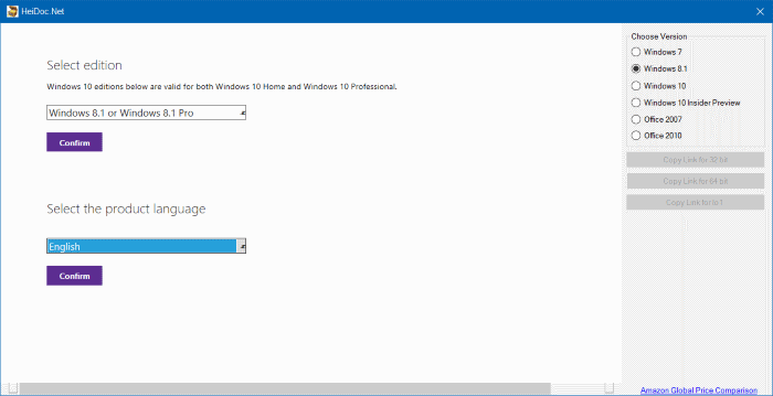 Windows and Office ISO Downloader (bahasa)