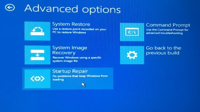 Advancd Startup Options