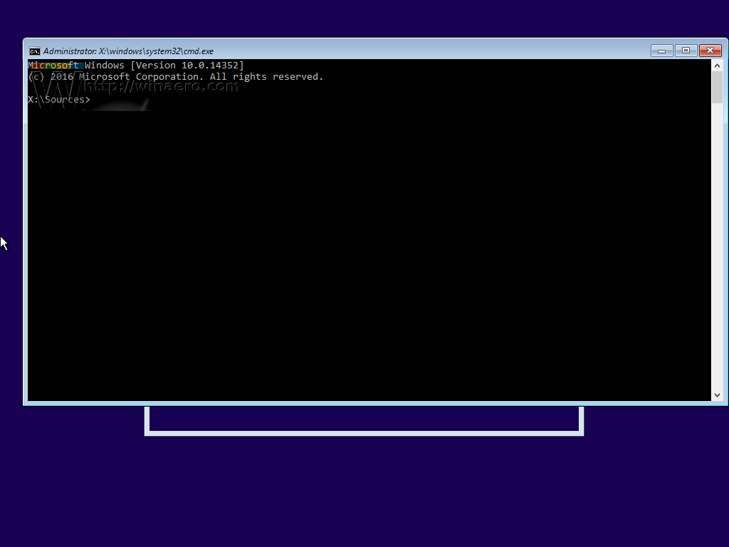 Command Prompt (Install Windows)