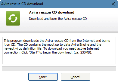 Rescue CD Avira