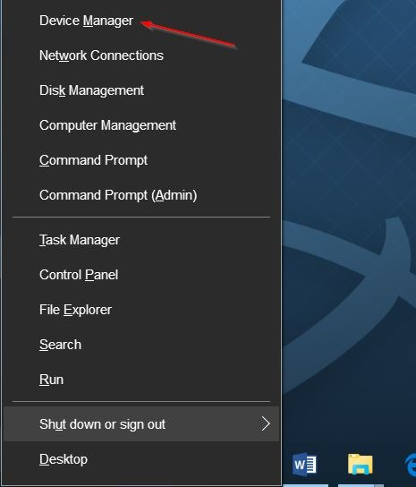 Buka Device Manager di Windows 10