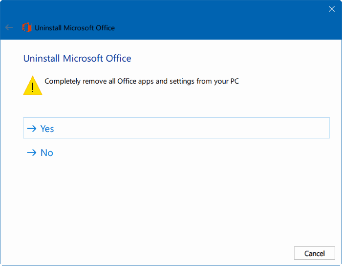 Uninstall Microsoft Office