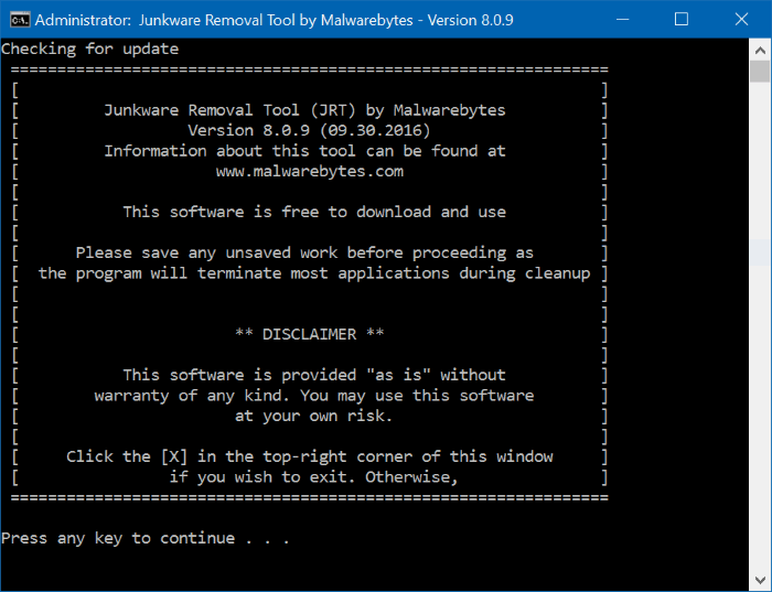 dan aplikasi pengganggu lainnya biasanya akan terinstall secara otomatis ketika Anda meng Download Malwarebytes Junkware Removal Tool Gratis Untuk Windows 10