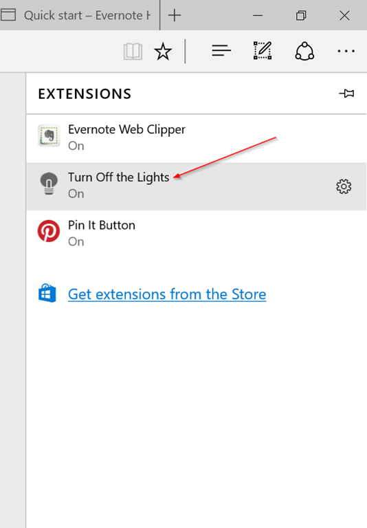 Extension Microsoft Edge