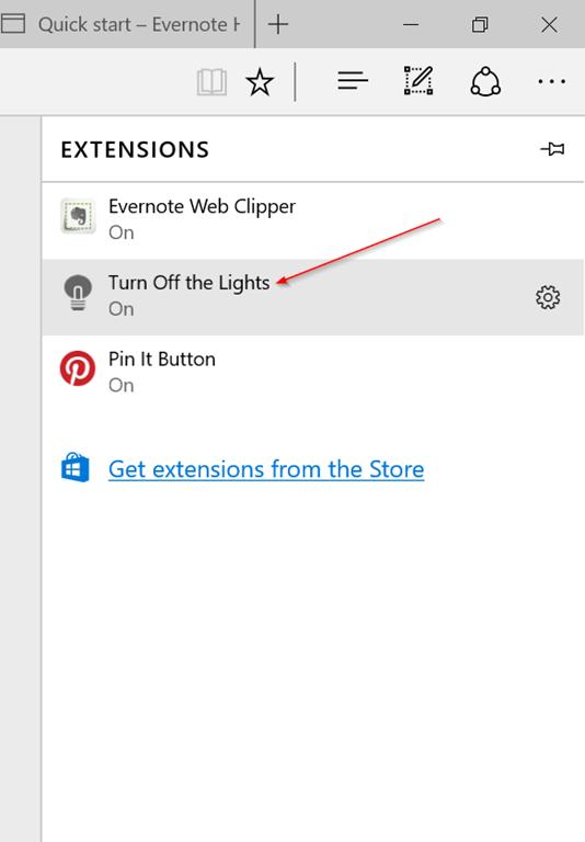 Extension Microsoft Edge