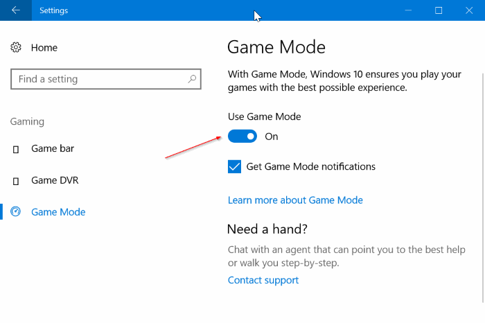 Mengaktifkan Game Mode Windows 10
