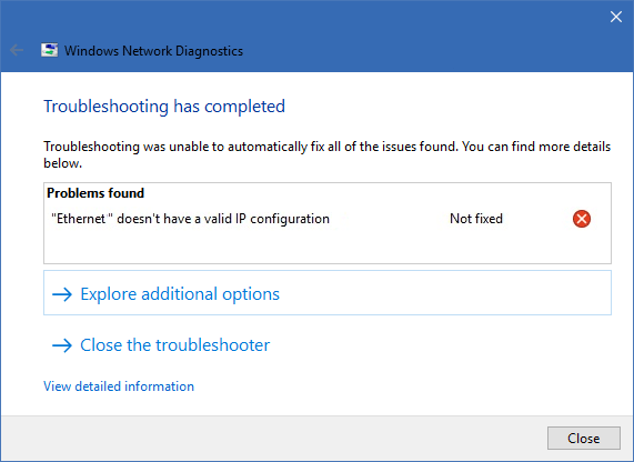 Windows Network Diagnostics