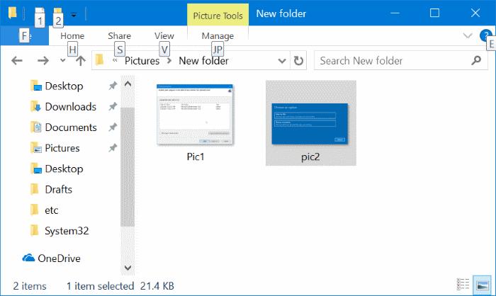 File Explorer Buka Gambar