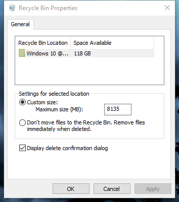 General Recycle Bin