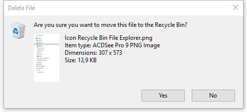 Konfirmasi sebelum menghapus file